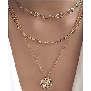 LAST! Gold layer chain coin necklace choker